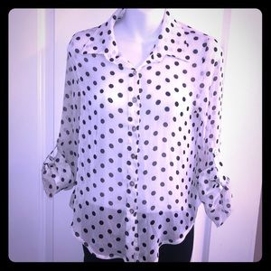 Living Doll Polka Dot Blouse